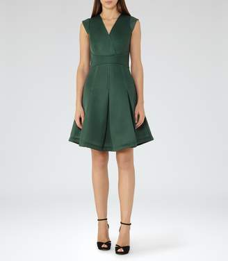 Reiss Riviera Textured Scuba Fit And Flare Dress