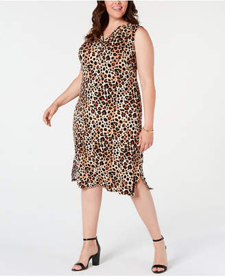 7f8a76f876c6 NY Collection Plus Size Animal-Print Dress