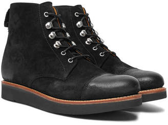Grenson Newton Brushed-Suede Boots