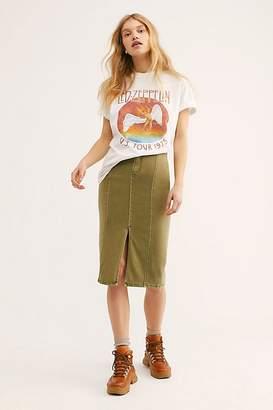 We The Free Maddie Denim Midi Skirt