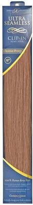 """Barely Xtensions 18"""" Ultra-Seamless Clip-in Hair Extensions Chestnut"""