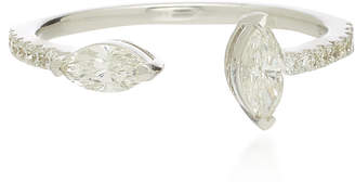 Graziela Navete Silver Diamond Ring