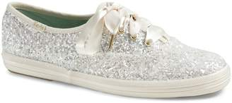 Keds x Kate Spade New York Bridal Metallic Canvas Low-Top Sneakers