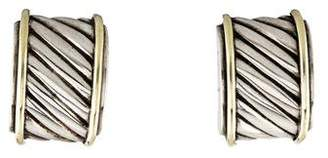 David Yurman Cable Classics Cigar Band Earrings