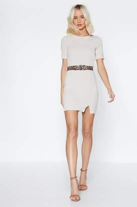 Nasty Gal Slit Up On Mini Dress