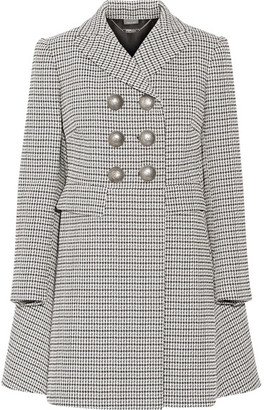 Alexander McQueen - Double-breasted Houndstooth Tweed Coat - Black $3,295 thestylecure.com