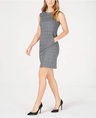 Anne Klein Plaid Pocket Dress