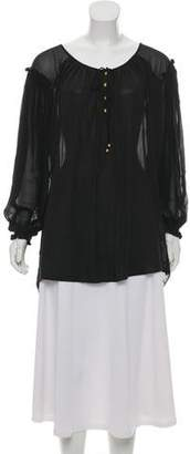 Temperley London Silk Sheer Tunic