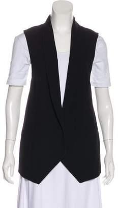 Haute Hippie Shawl-Lapel Button-Up Vest