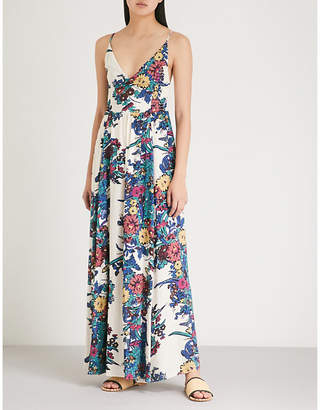 Free People Through The Vine floral-print woven dress