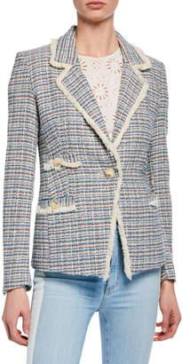 Veronica Beard Aba Tweed Single-Button Jacket