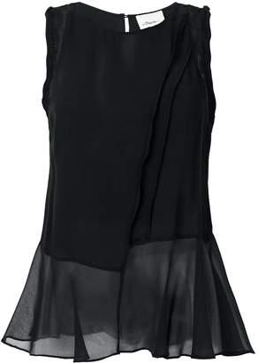 3.1 Phillip Lim sheer asymmetric hem blouse
