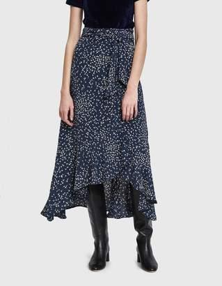 Ganni Barra Crepe Wrap Skirt