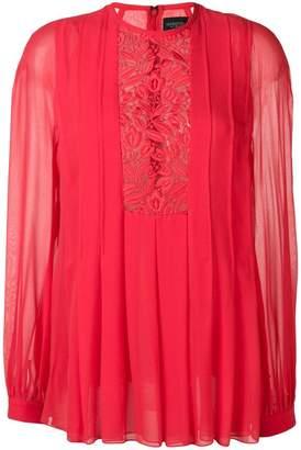 Giambattista Valli floral lace insert blouse