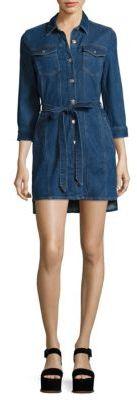 7 For All Mankind Denim Trucker Dress $279 thestylecure.com