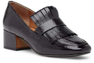 Kenneth Cole Gentle Souls by Ethan Block Heel Leather Loafer