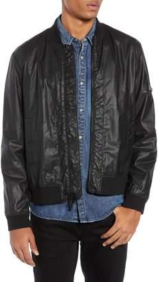 John Varvatos Coated Twill Zigzag Bomber Jacket