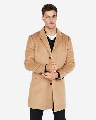 Express Camel Recycled Wool-Blend Topcoat