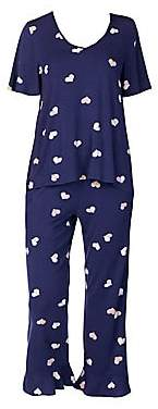 Kate Spade Women's 2-Piece Printed Pajama Set