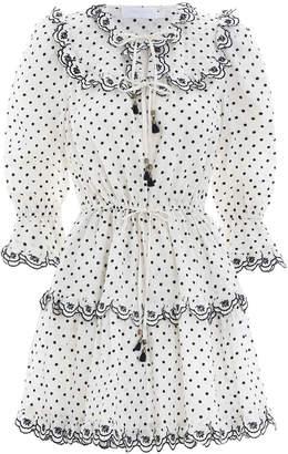 Zimmermann Jaya Scallop Short Dress