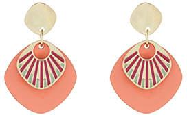 Accessorize Layered Enamel Disc Short Drop Earrings