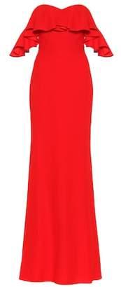 Alexander McQueen Off-the-shoulder ruffled gown