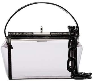 Gu_De transparent and black Water leather and PVC shoulder bag