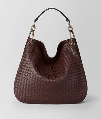 Bottega Veneta DARK BAROLO INTRECCIATO NAPPA HOBO BAG