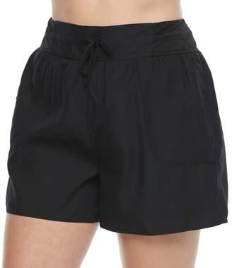 Croft & Barrow Plus Size Tactel Drawstring Swim Shorts