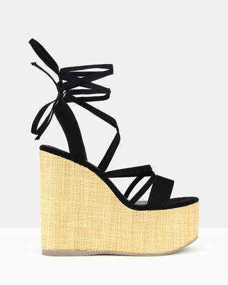betts Sensation Strappy Lace Up Sandals