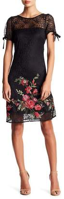 Betsey Johnson Floral Embroidered Lace Dress