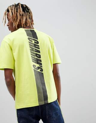 Charms Charm's T-Shirt In Neon Yellow With Back Print