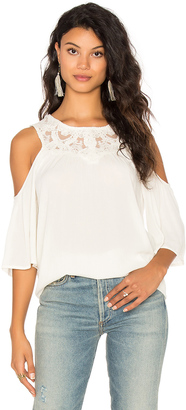 Ella Moss Olivier Cold Shoulder Top $148 thestylecure.com