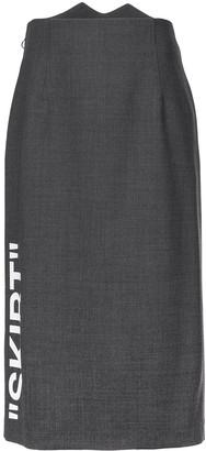 Off-White slogan midi skirt