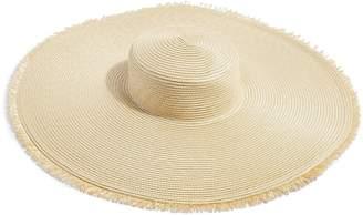 Topshop Frayed Oversize Straw Hat