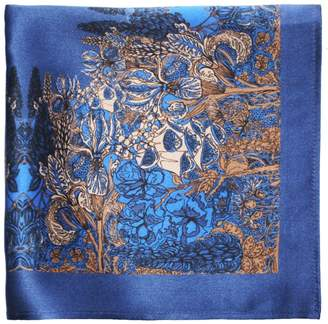 Emily Carter - The Floral Pocket Square Midnight Blue