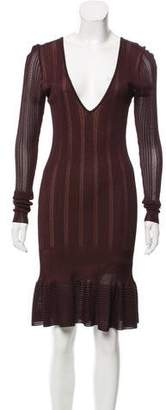 Alaia Long Sleeve Midi Dress