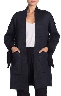 Solutions Tie Sleeve Tweed Oversized Cardigan