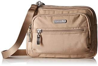 Baggallini Women Triple Zip Crossbody Travel Bag