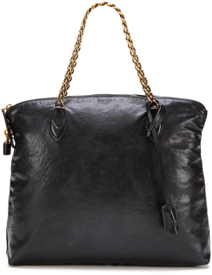 Louis Vuitton Black Cuir Boudoir Lockit Chain