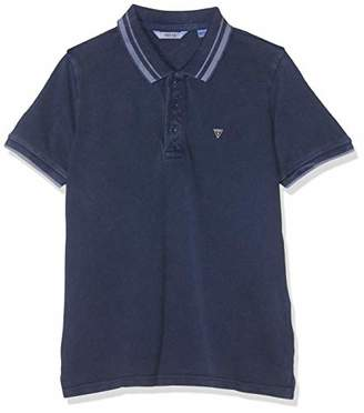 GUESS Boy's Ss Polo Shirt, (Deck Blue Dekb), (Size: 12)