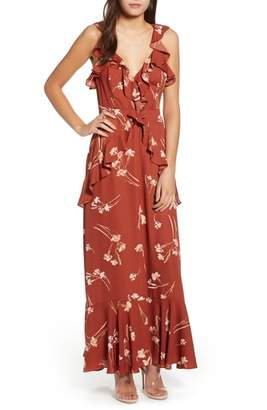 ASTR the Label Sleeveless Ruffle Maxi Dress
