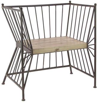 UMA Enterprises Uma Enterprises Modern Reflections Metal Wooden Chair