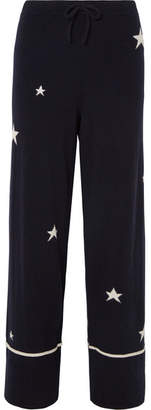 Chinti and Parker Star Cashmere Pajama Pants - Navy