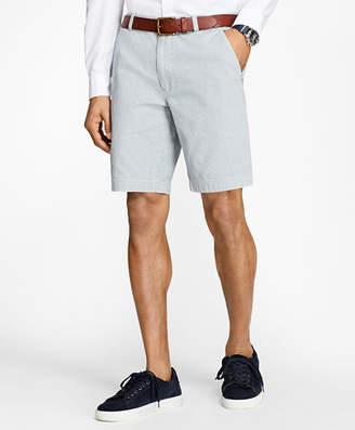 Brooks Brothers Stripe Chambray Shorts