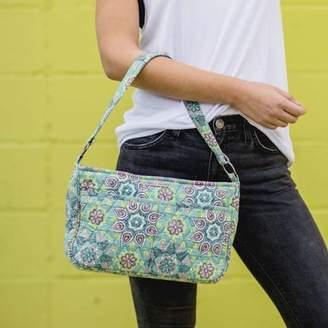 Ashton & Willow Dusty Turquoise Green Bohemian Handbags Luna Hobo Cotton Pewter Hardware Floral / Flower Hobo Bag