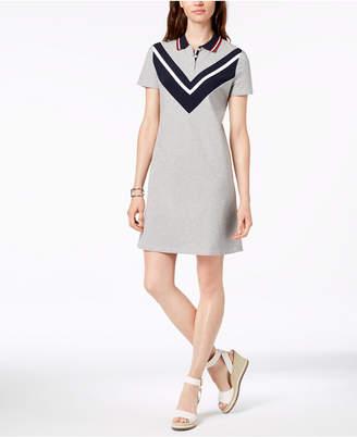 Tommy Hilfiger Chevron-Print T-Shirt Dress