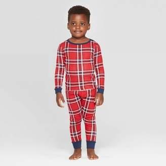EV Holiday Toddler Family Pajama Red Plaid Set - Red
