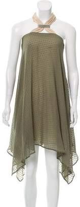 Yigal Azrouel Silk Halter Dress