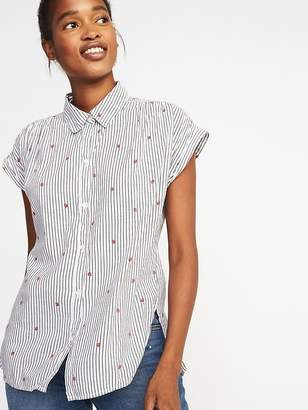 Old Navy Relaxed Strawberry-Print Shirt for Women